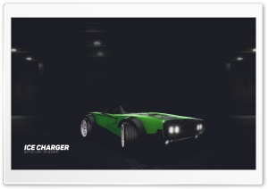 Rocket League - Ice Charger - Green HD Wide Wallpaper for Widescreen