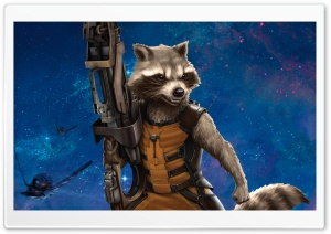 Rocket Raccoon 2014 HD Wide Wallpaper for Widescreen