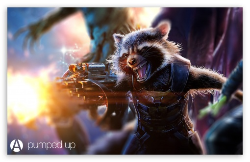 Rocket Raccoon Pumped Up by Awesome Design Studio ❤ 4K UHD Wallpaper for Wide 16:10 5:3 Widescreen WHXGA WQXGA WUXGA WXGA WGA ; 4K UHD 16:9 Ultra High Definition 2160p 1440p 1080p 900p 720p ; Standard 3:2 Fullscreen DVGA HVGA HQVGA ( Apple PowerBook G4 iPhone 4 3G 3GS iPod Touch ) ; Mobile 5:3 3:2 16:9 - WGA DVGA HVGA HQVGA ( Apple PowerBook G4 iPhone 4 3G 3GS iPod Touch ) 2160p 1440p 1080p 900p 720p ;