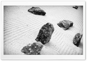 Rocks -  White Sand HD Wide Wallpaper for Widescreen