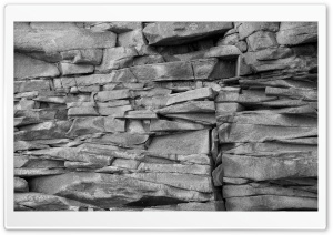 Rocks Black And White HD Wide Wallpaper for Widescreen