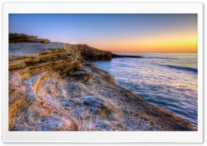Rocks of Sunset Cliffs HD Wide Wallpaper for Widescreen