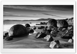 Rocks On A Beach HD Wide Wallpaper for Widescreen