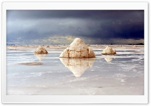 Rocks Reflecting In The Water HD Wide Wallpaper for Widescreen