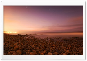 Rocky Beach, Evening HD Wide Wallpaper for Widescreen