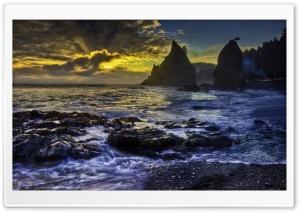 Rocky Beach HDR HD Wide Wallpaper for 4K UHD Widescreen desktop & smartphone