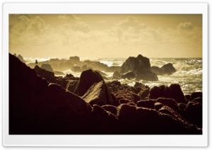 Rocky Sea Shore HD Wide Wallpaper for Widescreen