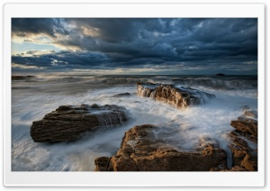 Rocky Seascape HD Wide Wallpaper for Widescreen