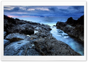 Rocky Shore HD Wide Wallpaper for Widescreen