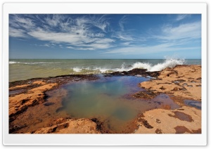 Rocky Shore, Summer HD Wide Wallpaper for Widescreen