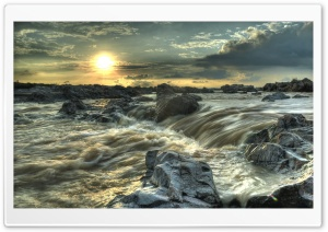 Rocky Stream HDR HD Wide Wallpaper for Widescreen