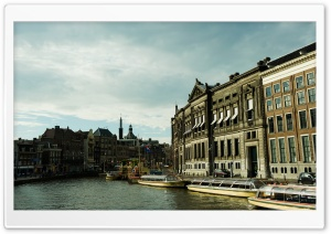 Rokin, Amsterdam HD Wide Wallpaper for Widescreen