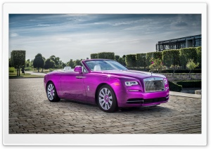 Rolls-Royce Dawn in Fuxia 2017 HD Wide Wallpaper for 4K UHD Widescreen desktop & smartphone