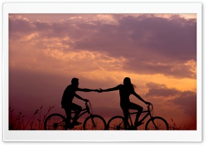 Romantic Bike Ride with Lover Ultra HD Wallpaper for 4K UHD Widescreen desktop, tablet & smartphone