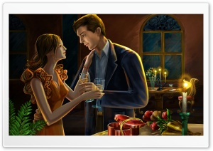 Romantic Dinner HD Wide Wallpaper for Widescreen