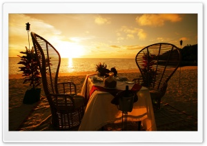 Romantic Dinner Arrangement HD Wide Wallpaper for Widescreen