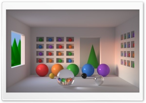 Room of Spheres HD Wide Wallpaper for Widescreen