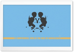 Rorschach Test Image HD Wide Wallpaper for Widescreen