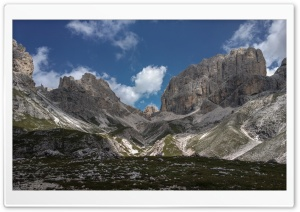 Rosengarten Mountain range in Italy HD Wide Wallpaper for Widescreen