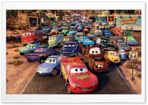Route 66 Cars Movie HD Wide Wallpaper for Widescreen