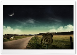 Route Sixty Six HD Wide Wallpaper for Widescreen