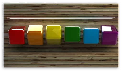 Row of Coloured Cubes ❤ 4K UHD Wallpaper for 4K UHD 16:9 Ultra High Definition 2160p 1440p 1080p 900p 720p ; Mobile 5:3 16:9 - WGA 2160p 1440p 1080p 900p 720p ;