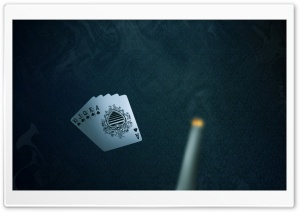 Royal Flush Dual Monitor HD Wide Wallpaper for Widescreen