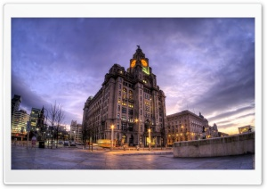 Royal Liver Building, Liverpool, England, United Kingdom HD Wide Wallpaper for Widescreen