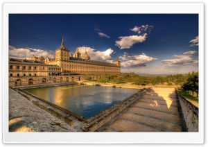Royal Seat Of San Lorenzo De El Escorial, Madrid, Spain HD Wide Wallpaper for Widescreen