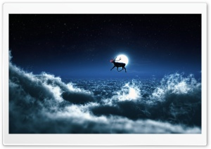 Rudolph Flies Solo HD Wide Wallpaper for Widescreen