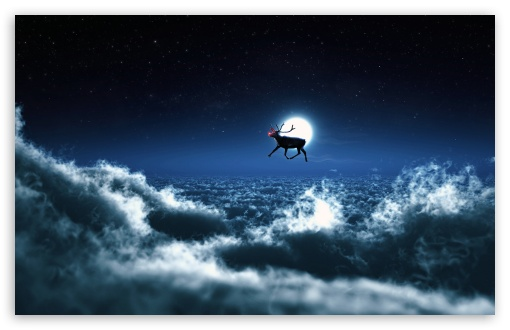Rudolph Flies Solo HD wallpaper for Standard 4:3 5:4 Fullscreen UXGA XGA SVGA QSXGA SXGA ; Wide 16:10 5:3 Widescreen WHXGA WQXGA WUXGA WXGA WGA ; HD 16:9 High Definition WQHD QWXGA 1080p 900p 720p QHD nHD ; Other 3:2 DVGA HVGA HQVGA devices ( Apple PowerBook G4 iPhone 4 3G 3GS iPod Touch ) ; Mobile VGA WVGA iPhone iPad PSP Phone - VGA QVGA Smartphone ( PocketPC GPS iPod Zune BlackBerry HTC Samsung LG Nokia Eten Asus ) WVGA WQVGA Smartphone ( HTC Samsung Sony Ericsson LG Vertu MIO ) HVGA Smartphone ( Apple iPhone iPod BlackBerry HTC Samsung Nokia ) Sony PSP Zune HD Zen ; Tablet 2 ;