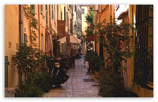 Ruelle Saint Tropez France Ultra Hd Desktop Background