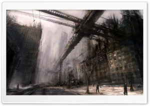 Ruined City Art HD Wide Wallpaper for Widescreen
