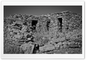 Ruins Black And White HD Wide Wallpaper for Widescreen