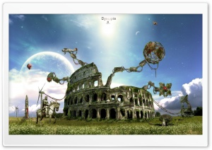 Ruins Of The Colosseum HD Wide Wallpaper for Widescreen