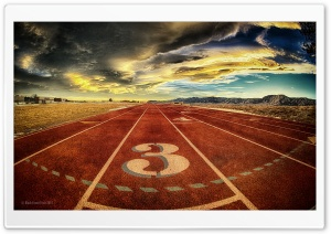 Running Track HD Wide Wallpaper for Widescreen