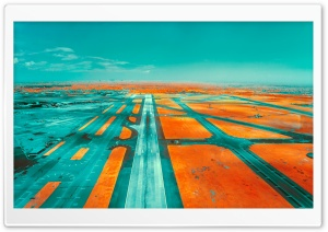Runway Infrared Photography HD Wide Wallpaper for 4K UHD Widescreen desktop & smartphone