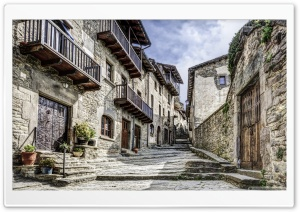 Rupits Natural Stone Street Catalonia HD Wide Wallpaper for Widescreen