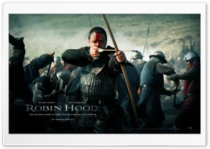 Russell Crowe, Robin Hood HD Wide Wallpaper for Widescreen