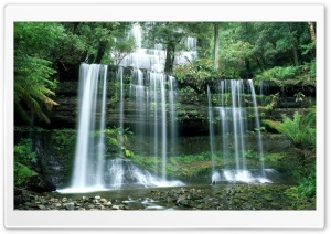 Russell Falls Mount Field National Park Tasmania HD Wide Wallpaper for Widescreen