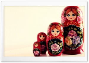 Russian Dolls HD Wide Wallpaper for Widescreen