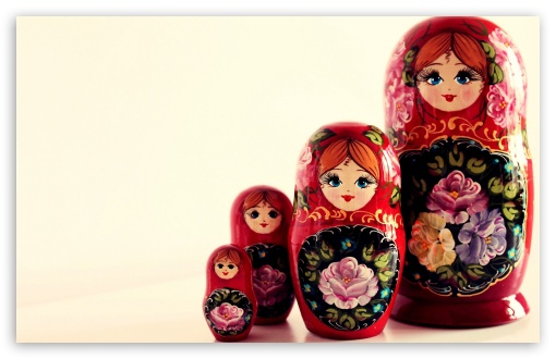 Russian Dolls HD wallpaper for Wide 16:10 Widescreen WHXGA WQXGA WUXGA WXGA ; Standard 4:3 5:4 3:2 Fullscreen UXGA XGA SVGA QSXGA SXGA DVGA HVGA HQVGA devices ( Apple PowerBook G4 iPhone 4 3G 3GS iPod Touch ) ; iPad 1/2/Mini ; Mobile 4:3 3:2 5:4 - UXGA XGA SVGA DVGA HVGA HQVGA devices ( Apple PowerBook G4 iPhone 4 3G 3GS iPod Touch ) QSXGA SXGA ;