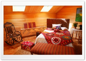 Rustic Bedroom HD Wide Wallpaper for Widescreen