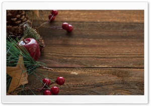 Rustic Christmas Table Decorations Background HD Wide Wallpaper for 4K UHD Widescreen desktop & smartphone