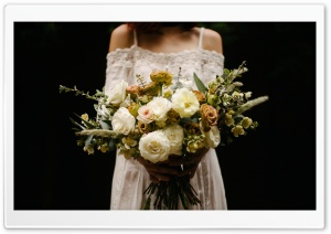 Rustic Wedding Bouquet, Bride HD Wide Wallpaper for 4K UHD Widescreen desktop & smartphone