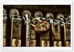 Rusty Lock HD Wide Wallpaper for Widescreen