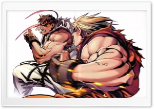 Ryu vs. Ken HD Wide Wallpaper for Widescreen