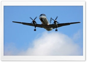 Saab 2000 Aircraft HD Wide Wallpaper for Widescreen