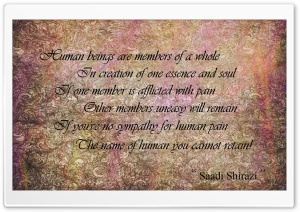 Saadi&#039;s Poem HD Wide Wallpaper for Widescreen