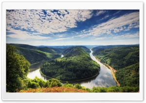 Saar Loop At Mettlach HD Wide Wallpaper for 4K UHD Widescreen desktop & smartphone